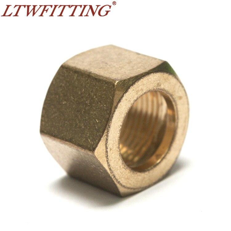 "LTWFITTING 7/16"" Brass Compression Nut,BRASS COMPRESSION FITTING"