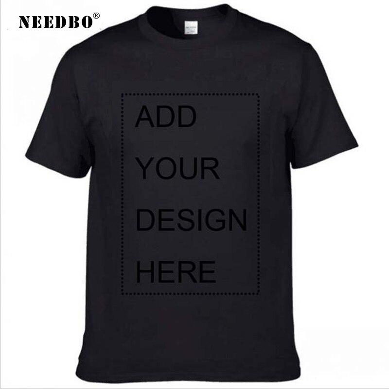 NEEDBO индивидуальная футболка с принтом логотипа своими руками собственный дизайн футболка Мужская Летняя Повседневная хлопковая уличная о...