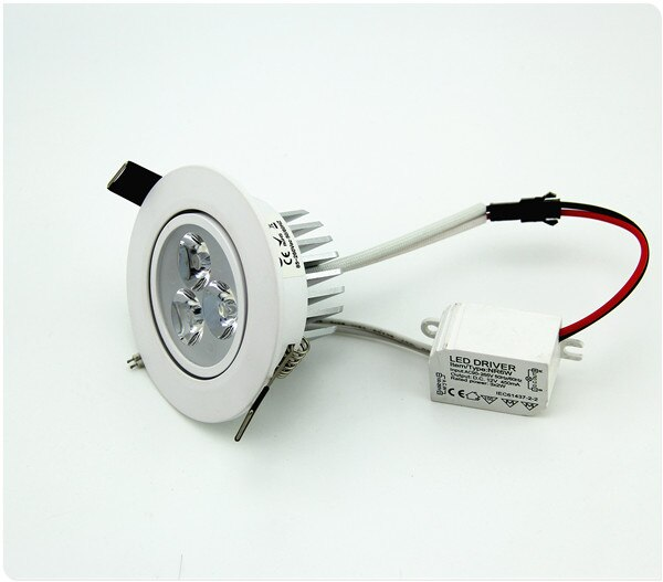 2 unids/lote regulable Downlight LED luz 3W 6W 220V Led Spot Encastrable Exterieur Led Downlight