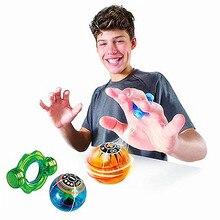 Jouet magnétique Fidget Gags jouet magnétique clignotant brillant boule réducteur de Stress Spinner jouets vitesse magique Induction magnéto sphères