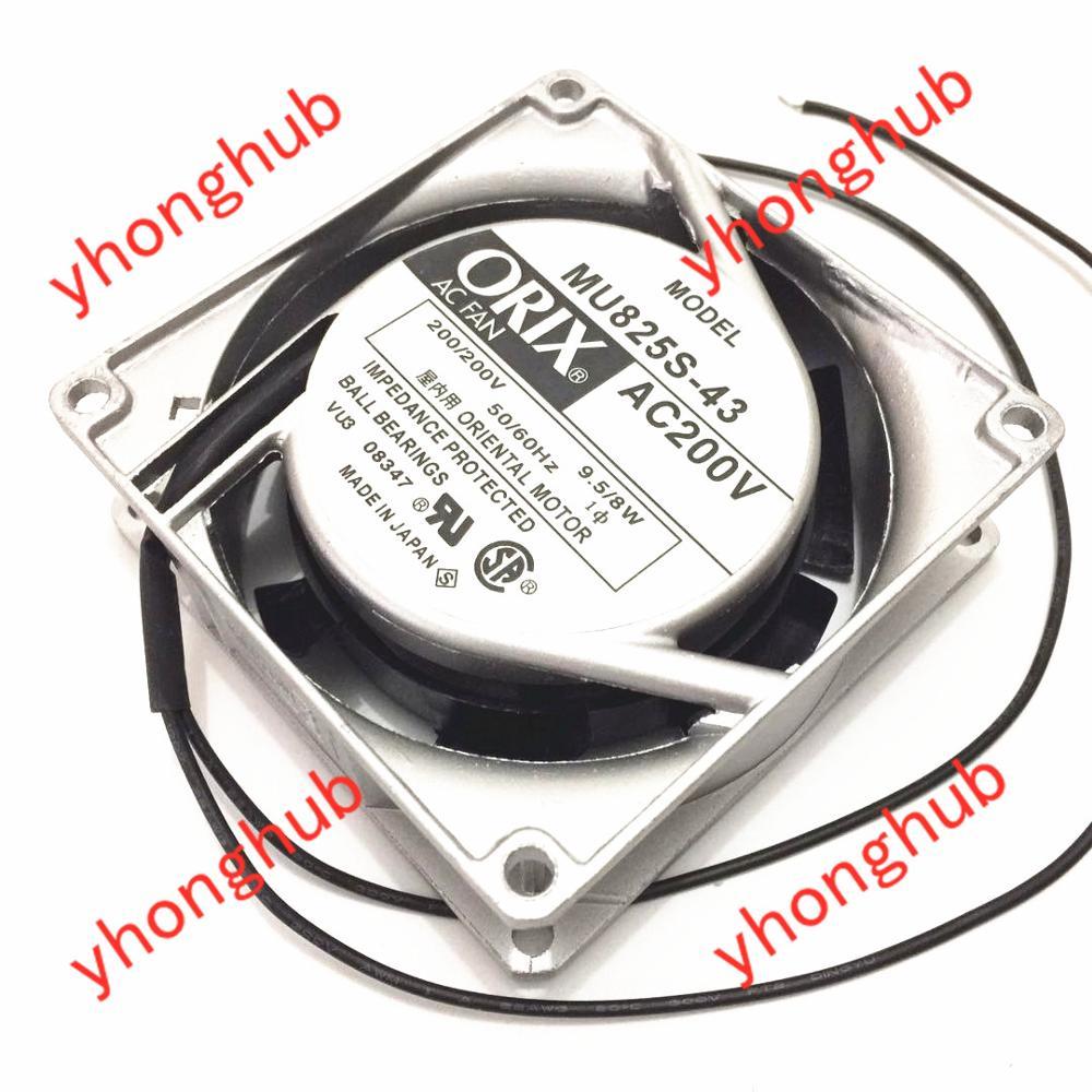 ORIX MU825S-43 Server Cooling Fan AC 200V 0.08A 80x80x25mm 2-wire
