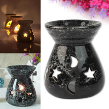 Black Ceramic Oil Burners Lavender Fragrance Aromatherapy Gift Scent Essential