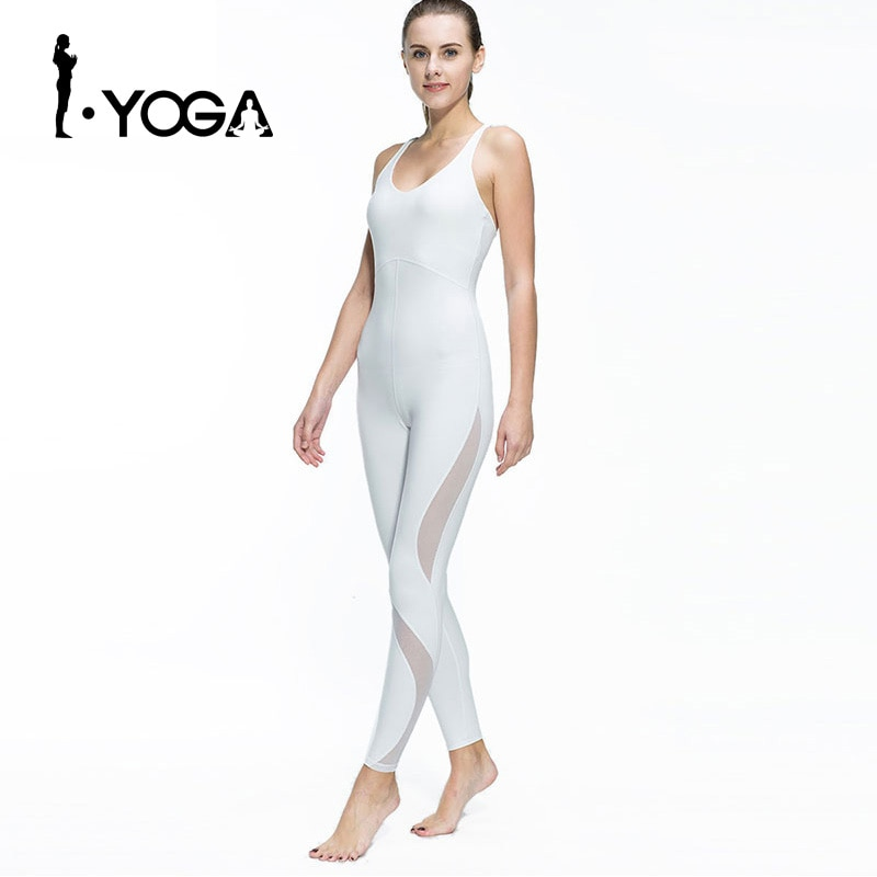 Conjunto de ropa deportiva para mujer, Mono para correr, correr, bailar, chándal transpirable de secado rápido de Spandex