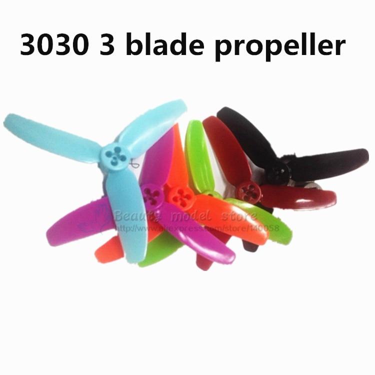 Hélices De 3 Pulgadas Para Mini Drones De Carreras 6 Pares 12 Uds Hélice De 3 Palas Cw Ccw Motor De 3030 Qav R X Gep Tx5 Quadcopter 3030 Propeller Propeller 33 Blade Propeller Aliexpress