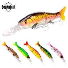 SeaKnight SK042 Minnow 13.5g 100mm 0-1.2M leurre de pêche 5 pièces langue longue 2 Sections appâts articulés avec queue crochets VMC pêche à la carpe