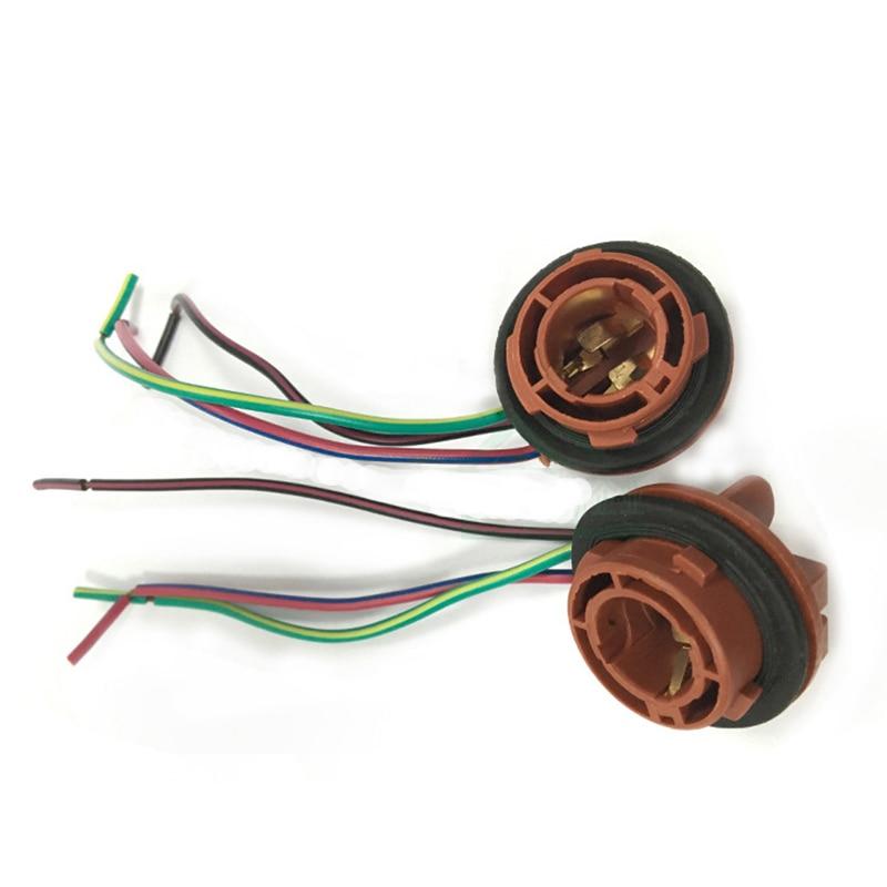 2 pcs/par 1157 Suporte da Lâmpada de Soquete Car Turn Signal Brake Parar Cauda BAY15D Adaptador Luz 1157 Lâmpada LED Lâmpada Luz base de Soquete 1157