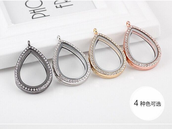 Una pieza de moda oval forma Blanco/Negro/oro rosa diy vidrio flotantes medallones colgantes xyp112