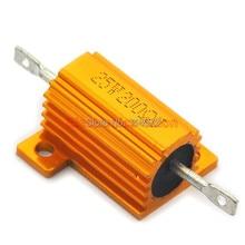 (2 pcs/lot) 200 OHM 25W Wirewound Aluminum Housed Resistor, 25 Watts.