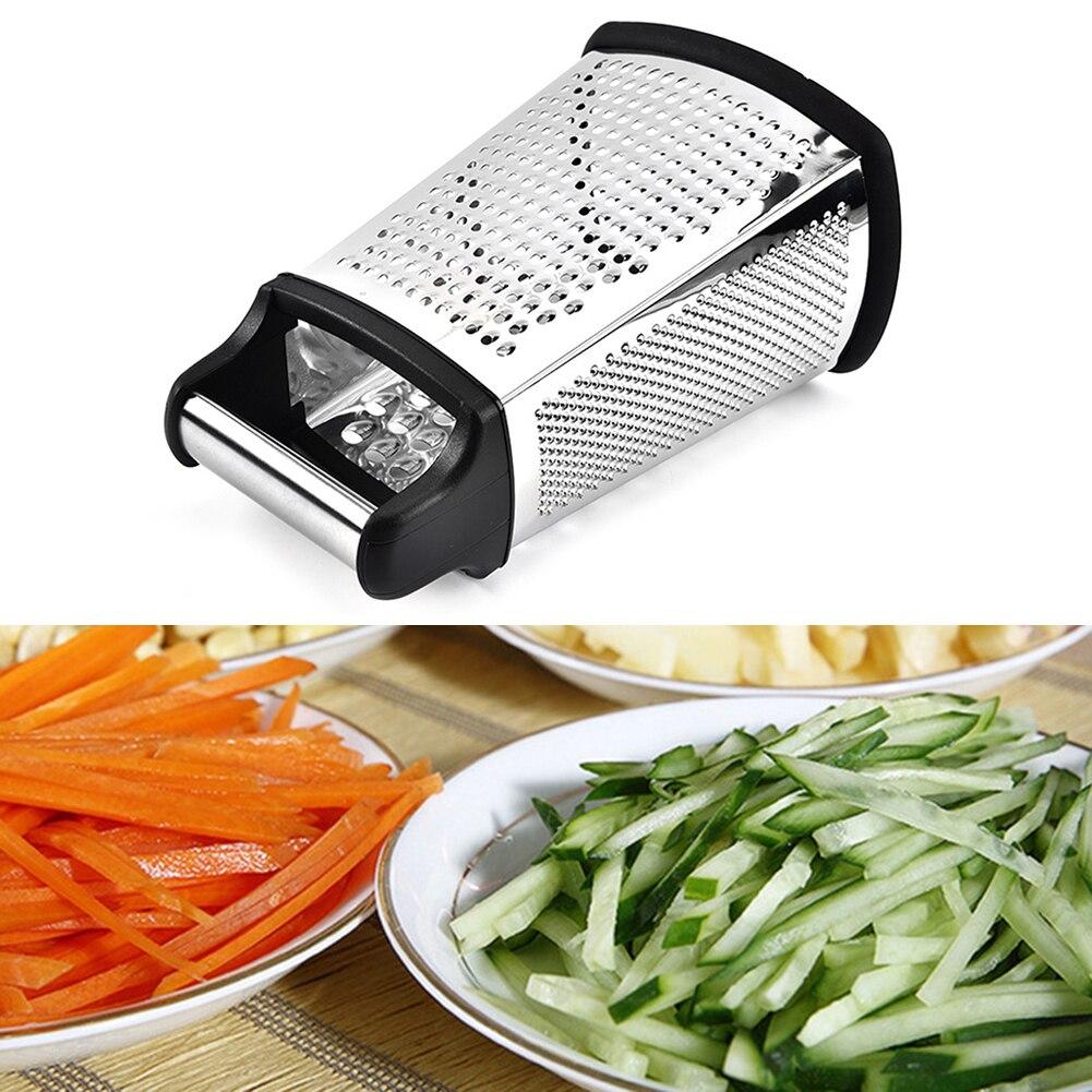 De acero inoxidable rallador de vegetales jengibre rallador rebanador de vegetales 4-de caja rallador de mano rallador de herramientas cortadoras para la cocina