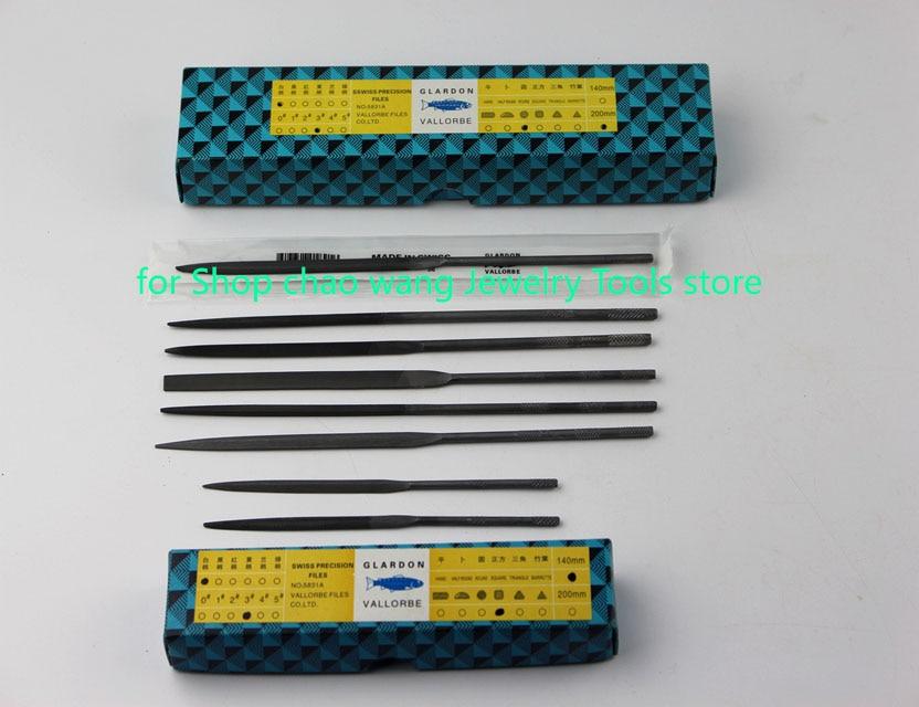 Vallorbe Glardon الدقة الملفات الصلب إبرة ملفات تصنيع في الصين 6 قطعة 140 مللي متر/200 مللي متر