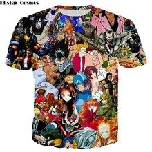 PLstar Cosmos hot sale men women t shirt anime many Graffiti t shirt New Fashion Hoodies Sweatshirt