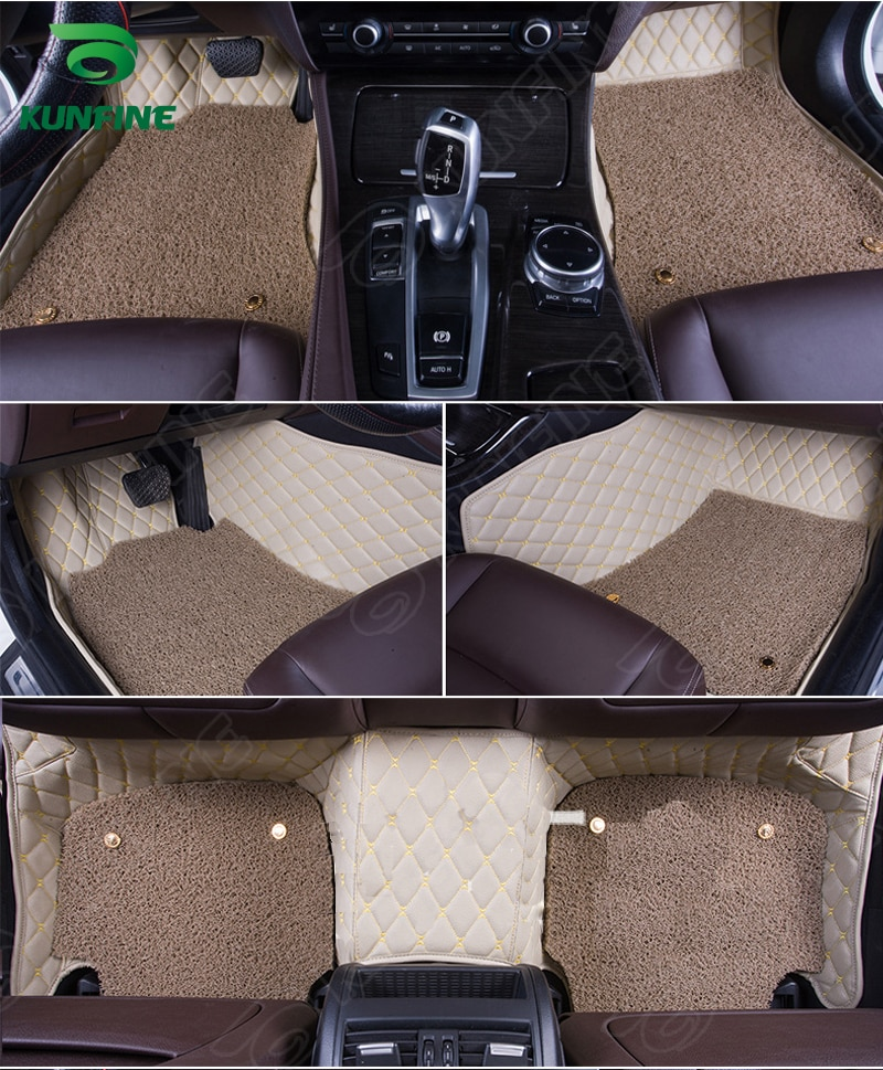 Estera de suelo de coche 3D para Citroen DS5 estera de pie de coche con una capa de almohadilla de bobina de termosol de mano izquierda forro de diseño de coche de conductor