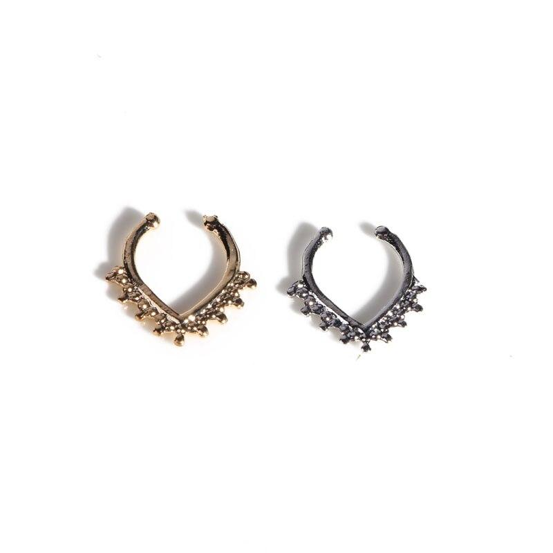 Tabique nasal anillo 16G titanio clicker nariz anillos joyería para piercing nariz aro pendientes de nariz