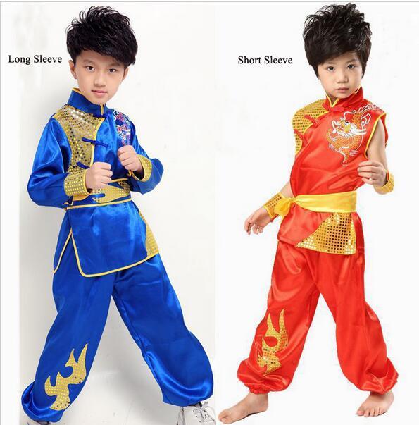Детская Китайская народная одежда, Детский костюм фу Конг с драконом для мальчика, костюм Ушу, одежда тайцзи, Китайская национальная одежда 16|folk clothes|chinese folk costumechinese child costume | АлиЭкспресс
