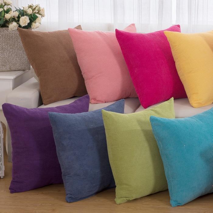 1 шт. 43*43 см, одноцветная мягкая подушка, чехол для подушки сиденья автомобиля, домашний декор, диван-кровать, декоративная наволочка 40094
