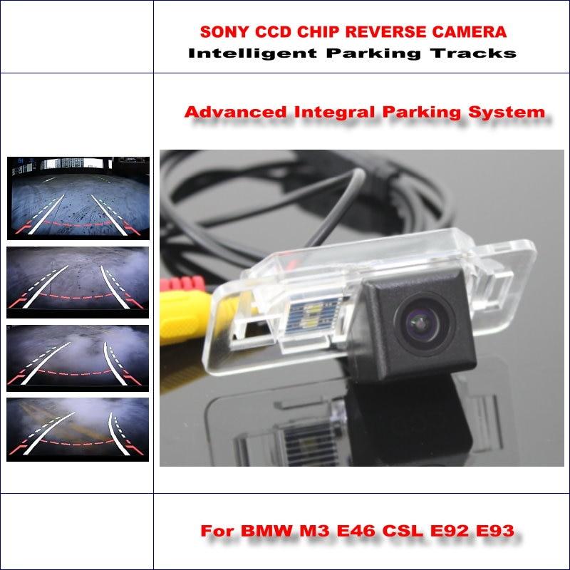 Задняя камера для BMW M3 E46 CSL E92 E93 интеллектуальная парковочная дорожка резервная обратная/580 ТВ линии динамическое руководство Tragectory