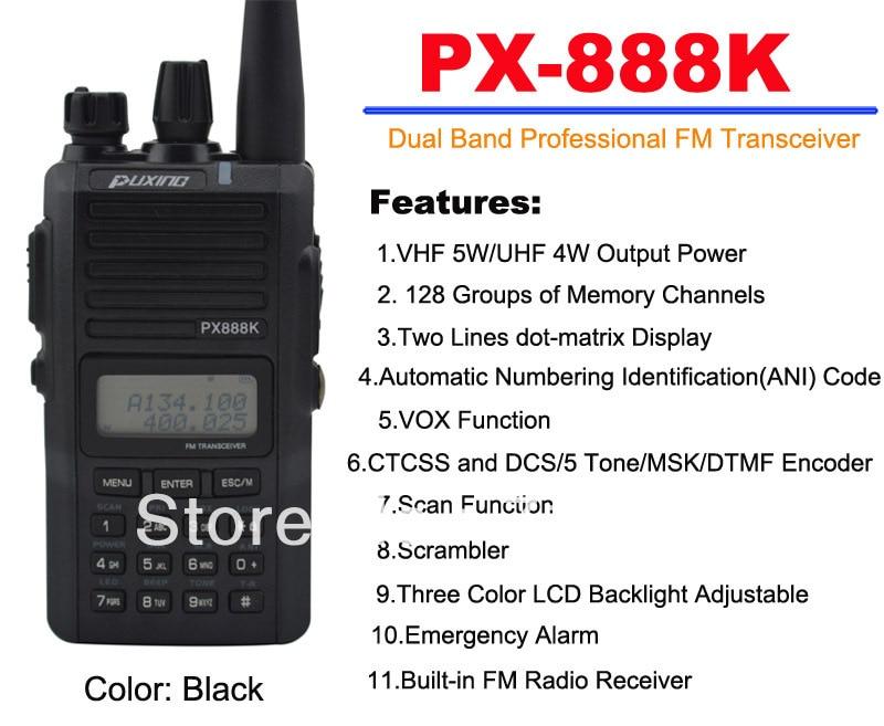 New 2013 PUXING PX-888K PX Dual Band portable two way radio VHF&UHF 10km walkie talkie PX FM Transceiver scanner CB ham radio