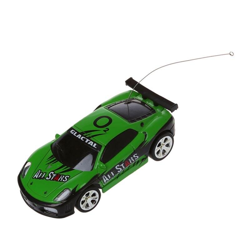 Hot!! Mini rc controle remoto carro de corrida brinquedos na bebida pode 158 (azul) novo