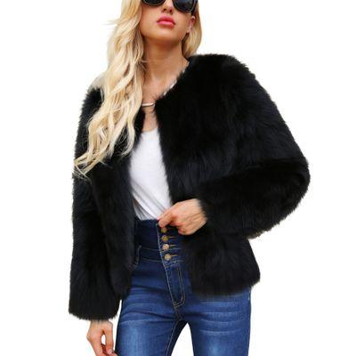 Women New Free Shipping Fashion Faux Fur Coat MT0037
