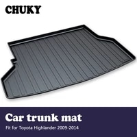chuky for toyota highlander 2009 2010 2011 2012 2013 2014 car cargo rear trunk mat boot liner tray anti slip mat accessories