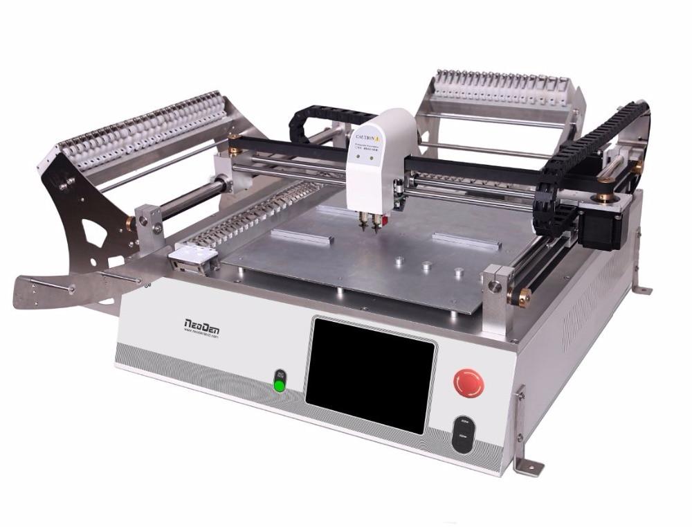 En venta SMT máquina de recogida y colocación sistema de visión NeoDe3V-Advanced máquina de montaje de PCB 2 cabezas 42 alimentador 0402 LED TQFP