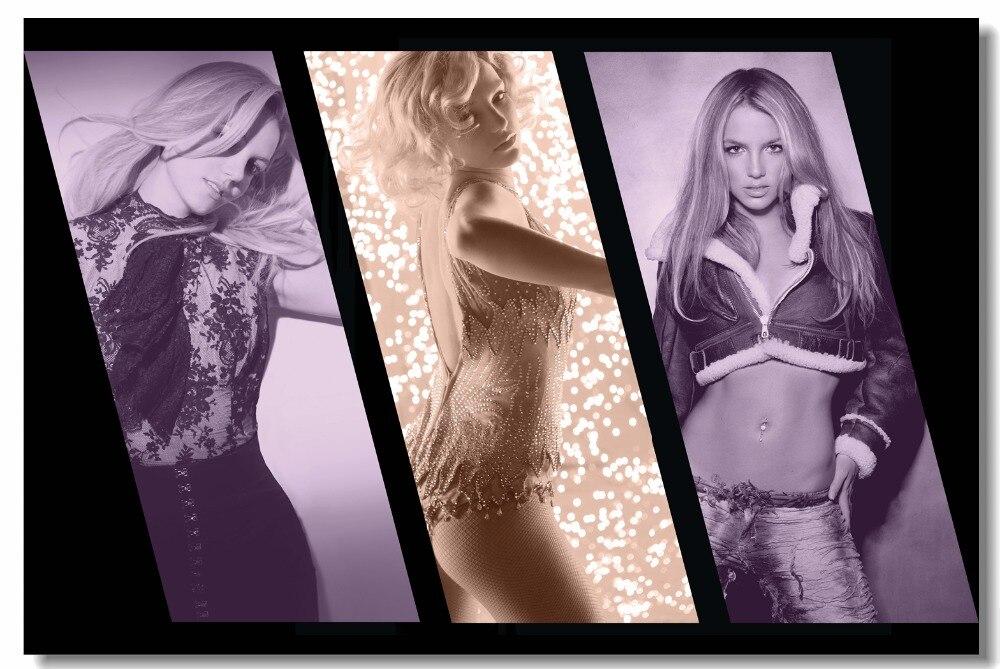 Impresión personalizada lienzo arte de pared estrella Sexy Britney póster de Britney Spears papel pintado pared del dormitorio pegatina decoración del hogar #0905 #