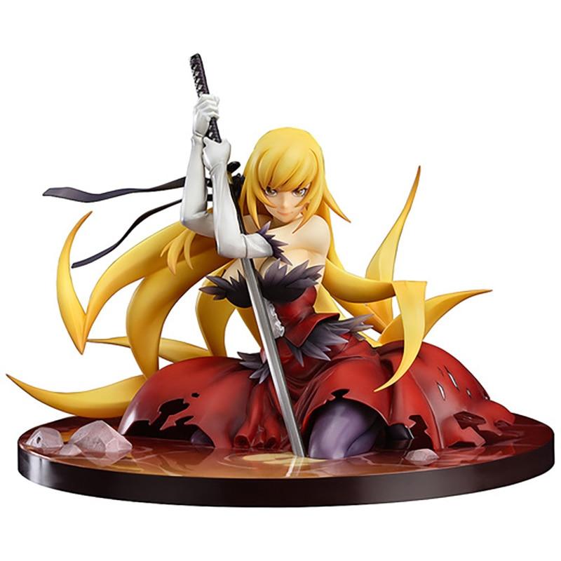 Figuras de acción del personaje de Monogatari, Nisemonogatari, Oshino, Shinobu, Arma de PVC, Anime a escala 1/8 de 12CM, juguetes de modelos de colección