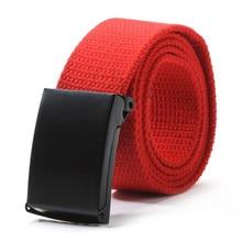 Décontracté unisexe hommes taille ceinture ceinture plaine sangle toile ceinture sangle ceintures