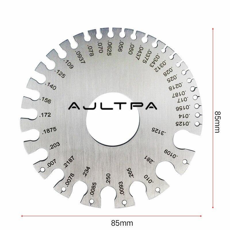 30 Pcs Schnelle Verschiffen Edelstahl 0-36 Runde AWG SWG Draht Dicke Herrscher Gauge Durchmesser Vermesser Werkzeug H4324