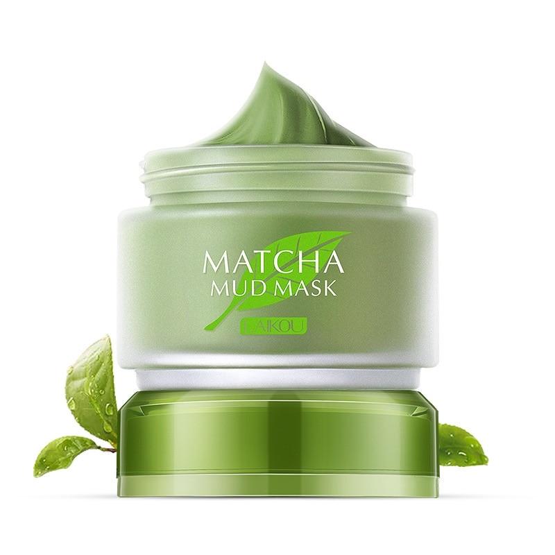 Matcha lama máscara facial creme clareamento anti-envelhecimento removedor de cravo tratamento acne limpeza profunda óleo-controle hidratante