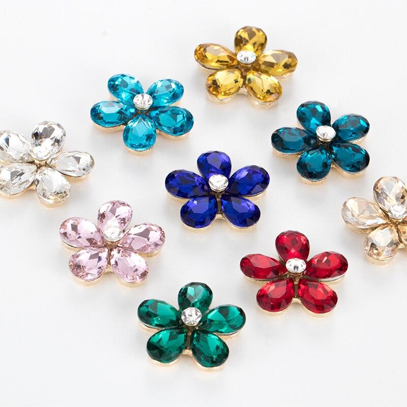 Aleación de Metal de la caja del teléfono de diamantes de imitación accesorios decoración coser en cristales para artesanía punto volver costura diy ensamblar ropa cuentas