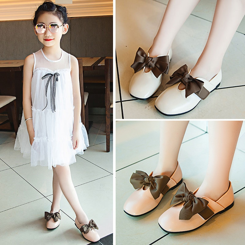 pink black red children girls shoes for kids student leather shoes school black dress shoes girls 4 5 6 7 8 9 10 11 12 13 14t Black Pink Beige bowknot Baby Girls Princess Shoes For Kids Casual Leather Shoes For Student Girl single shoes 3 4 5 6 7 8-15T