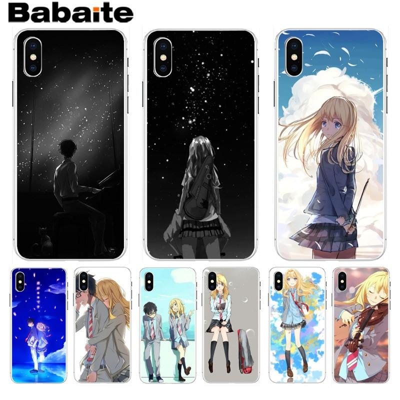 Babaite tu mentira en abril de nueva llegada teléfono funda ultradelgada para iPhone 8 7 6 6S Plus X XS X max 10 5 5S SE XR Coque Shell
