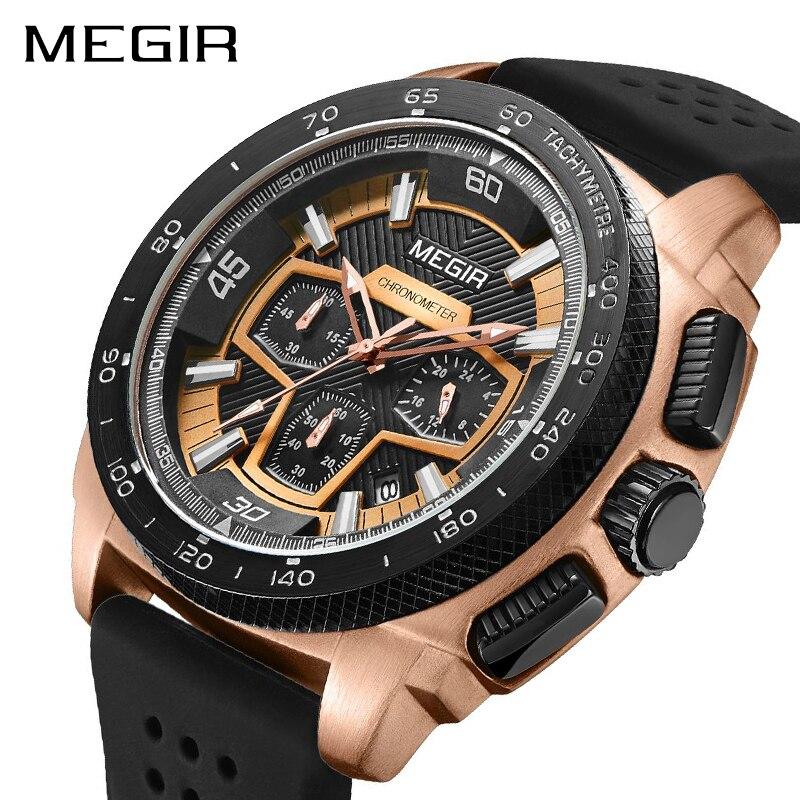 MEGIR-ساعة رياضية للرجال ، ساعة يد كوارتز ، عسكرية ، عصرية ، للرجال ، 2056