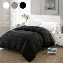 Housse de couette Simple   Blanc, noir, gris, couette, étui de couverture, parure de lit double, 220x240x200, 200