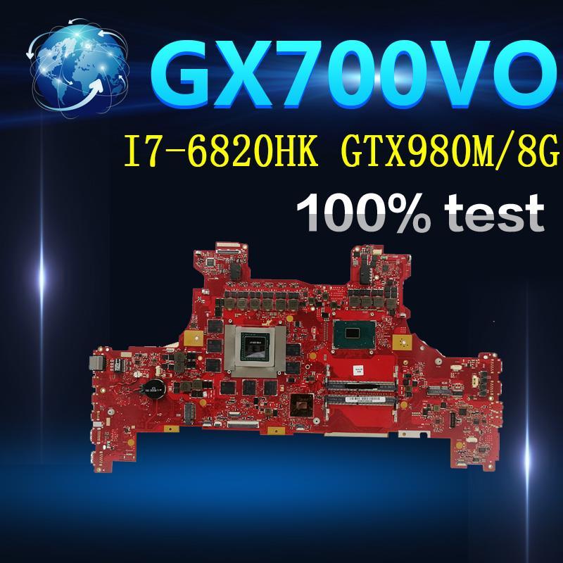 Placa base Amazoon GX700VO con I7-6820HK GTX980M/8 GFor Asus ROG GX700VO GX700V GX700 ordenador portátil placa base 100% de prueba OK