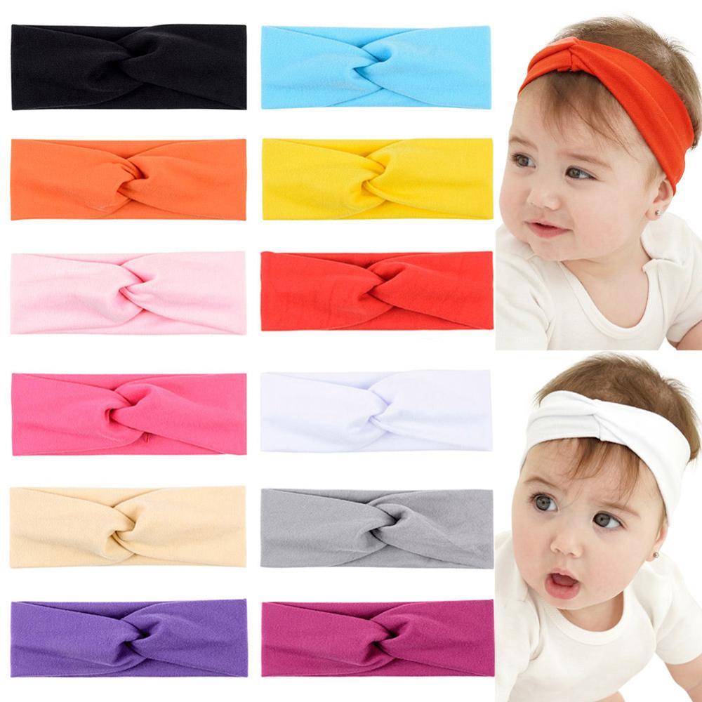 1 unidad de diademas de nailon superelásticas anudadas para bebé, diademas para la cabeza para bebé, lazos para bebé 949