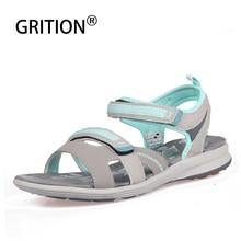 GRITION 2020 femmes sandales en plein air été plage chaussures plates cheville boucle sangle décontracté bout ouvert Sandalias Mujer mode marche