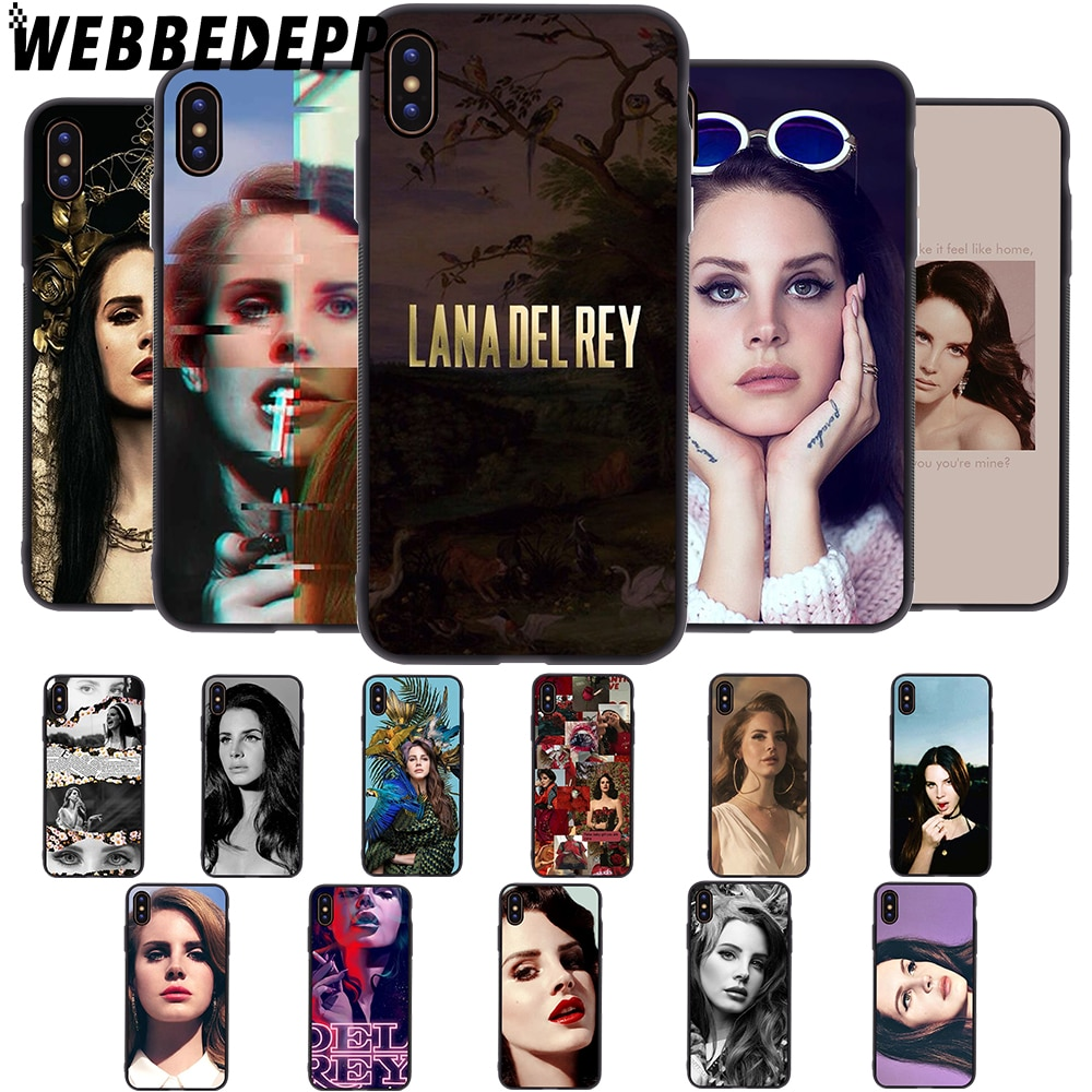 WEBBEDEPP Modelo Cantor Lana Del Rey Soft Case para iPhone 5 5S 6 6S 7 8 Plus X XS tampa 11 Pro MAX XR