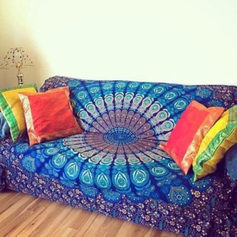 210cm x 150cm caliente Mandala rectangular indio Hippie Boho tapiz colgante de pared playa Throw Mat manta Yoga Mat