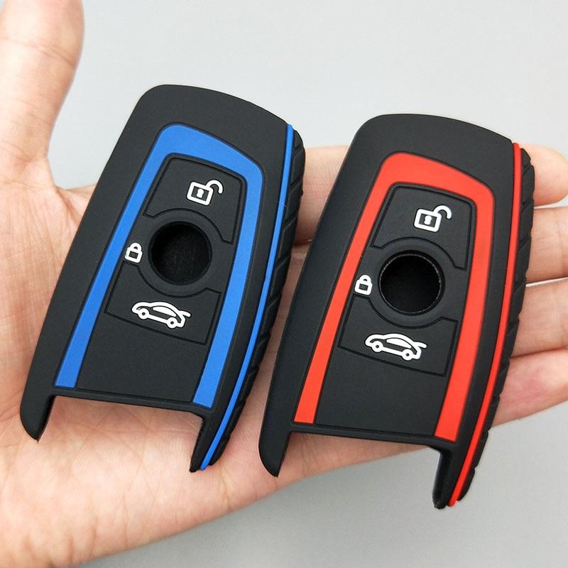 Coche protección para llaves para BMW F10 F20 F30 Z4 X1 X3 X4 M1 M2 M3 E90 1, 2, 3, 5 y 7 de la serie 3/4 de botón Nuevo funda de silicona conjunto