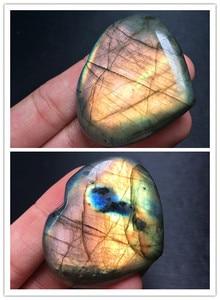 1PCS Fine!!!!!Natural quartz crystal du la full light heart shape.