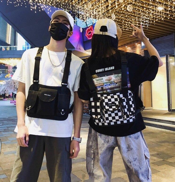 Hiphop kanye west calle ins caliente estilo pecho plataforma táctica militar bolsa de pecho paquete funcional trendsetter popular, de moda Prechest