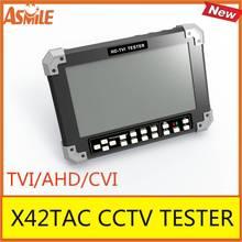 7 pouces TVI AHD CVI caméra testeur CCTV testeur moniteur CVI2.0 AHD2.0 1080 P caméra test VGA HDMI entrée 12 V sortie X42TAC