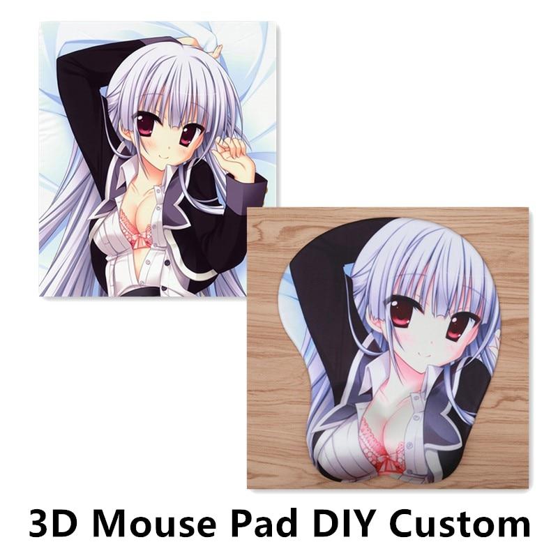 Fffas di Gioco Fai da Te Fumetto Del Mouse Personalizzato Pad 3D Del Seno Dell'anca di Silice Gel di Resto di Polso Mousepad su Misura Made Del Sesso Anime di Fuoco zerbino