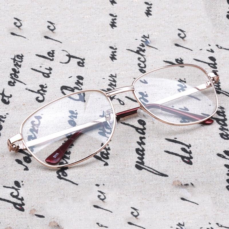 Óculos de leitura bifocal armação de metal óptico óculos de leitura bifocal ver perto e longe óculos avião espelho com área de leitura