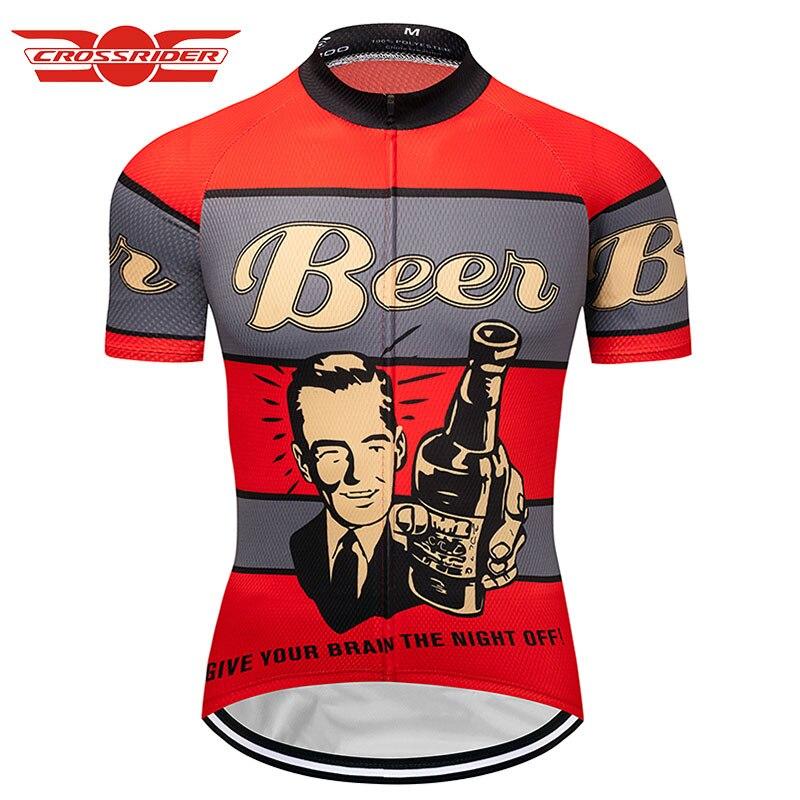 Beer-uniforme Retro De Ciclismo para Hombre, Ropa De Ciclismo, Maillot corto, Verano,...