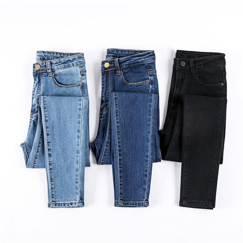 VIYUGUO 2020, pantalones vaqueros femeninos, pantalones vaqueros de Color negro para mujer, pantalones elásticos Donna, pantalones ajustados para mujer, pantalones 0023
