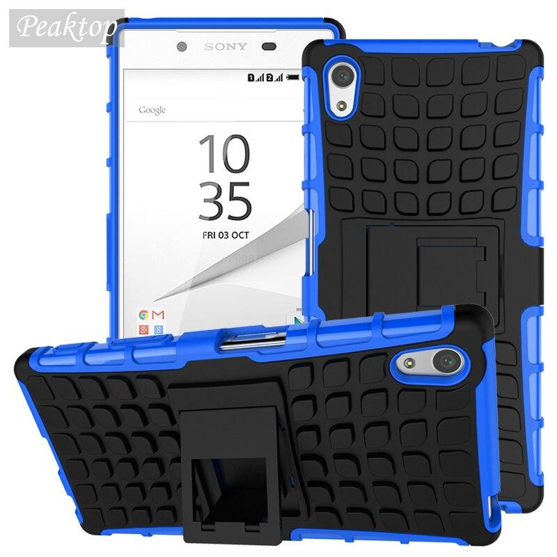 Чехол для Sony Z5, противоударный резиновый и Гибридный Пластиковый чехол для Sony Xperia Z5 E6603 E6633 E6653, чехол-подставка для телефона