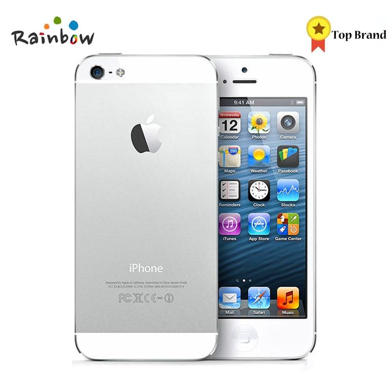 Original iPhone 5 IOS Fabrik Entsperrt Handy, IPS 8.0MP GPS 3G IOS System Verwendet GSM Mobile